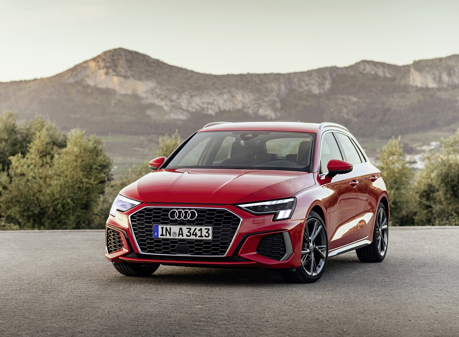 2021 Audi A3 Sportback (Color: Tango Red) Front Wallpapers (6)