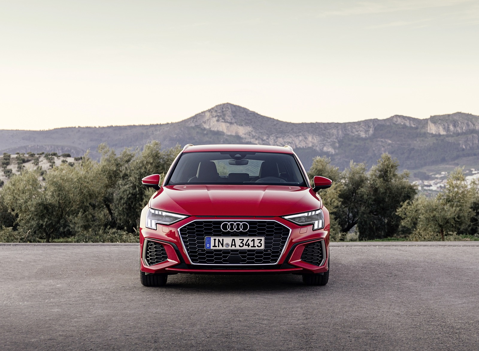 2021 Audi A3 Sportback (Color: Tango Red) Front Wallpapers (7)