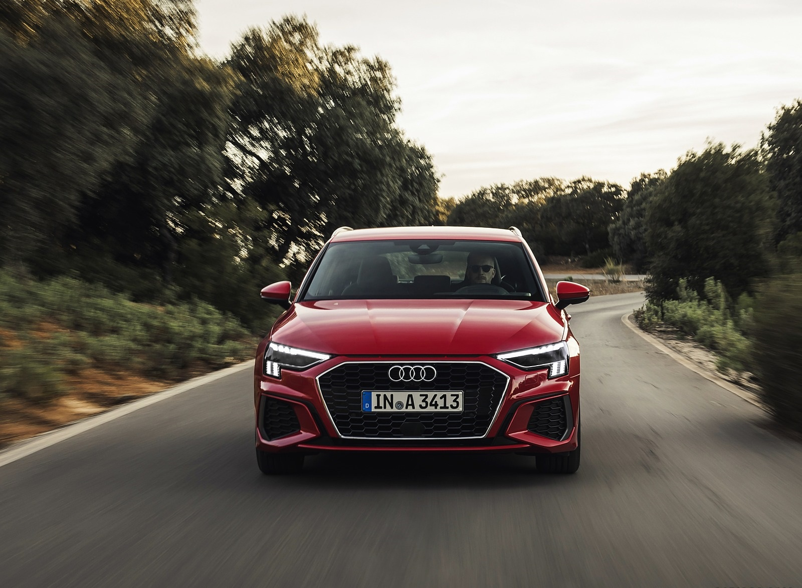 2021 Audi A3 Sportback (Color: Tango Red) Front Wallpapers (3)