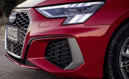 2021 Audi A3 Sportback (Color: Tango Red) Headlight Wallpapers 450x275 (12)