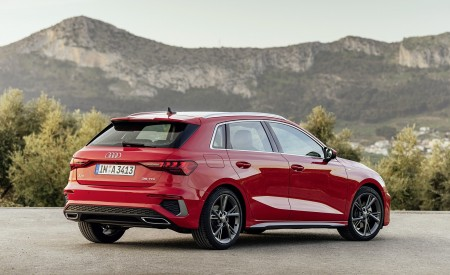 2021 Audi A3 Sportback (Color: Tango Red) Rear Three-Quarter Wallpapers 450x275 (8)