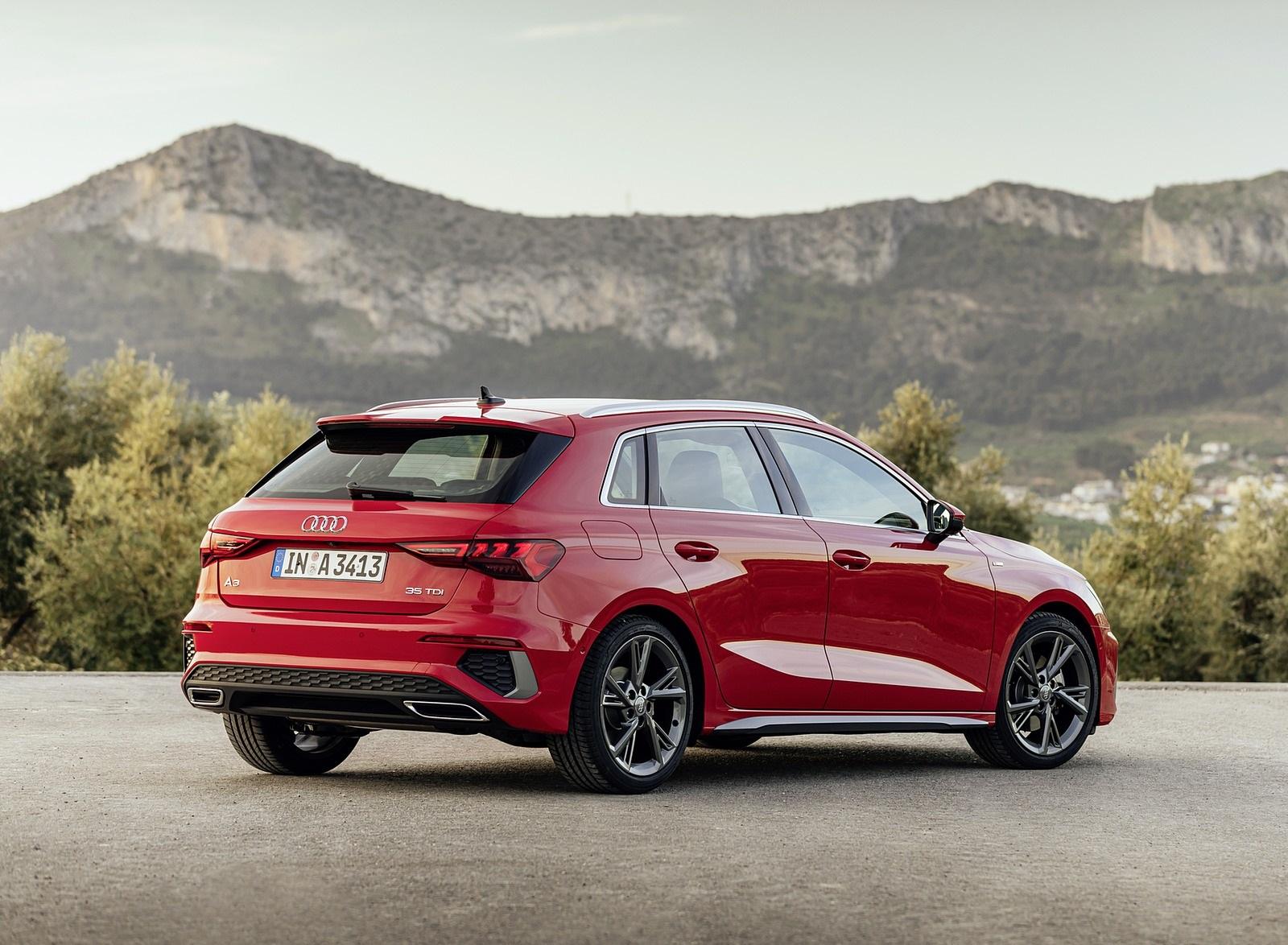 2021 Audi A3 Sportback (Color: Tango Red) Rear Three-Quarter Wallpapers (8)