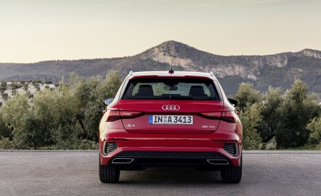 2021 Audi A3 Sportback (Color: Tango Red) Rear Wallpapers 450x275 (9)