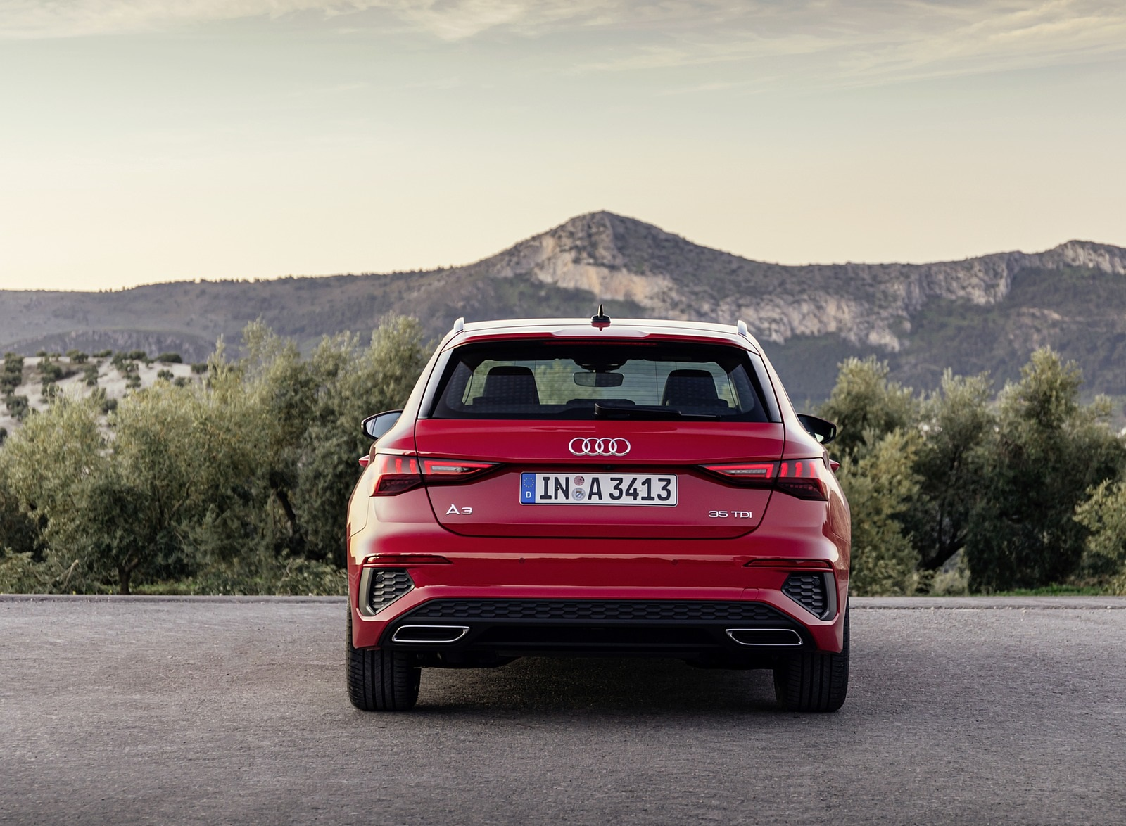 2021 Audi A3 Sportback (Color: Tango Red) Rear Wallpapers (9)