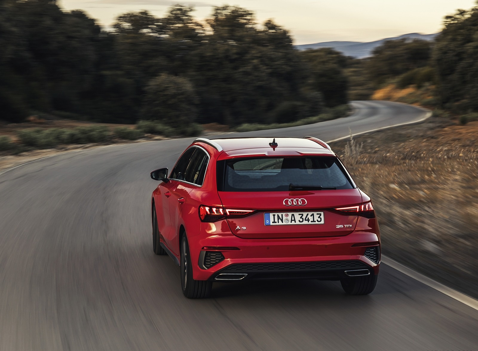 2021 Audi A3 Sportback (Color: Tango Red) Rear Wallpapers (4)