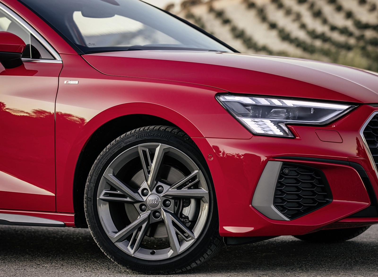 2021 Audi A3 Sportback (Color: Tango Red) Wheel Wallpapers (10)
