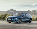 2021 Audi A3 Sportback (Color: Turbo Blue) Front Three-Quarter Wallpapers 150x120 (23)