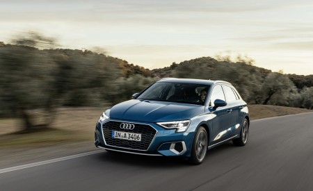 2021 Audi A3 Sportback (Color: Turbo Blue) Front Three-Quarter Wallpapers 450x275 (19)