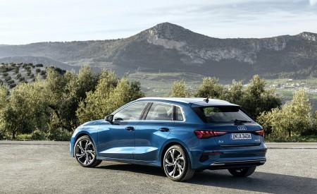 2021 Audi A3 Sportback (Color: Turbo Blue) Rear Three-Quarter Wallpapers 450x275 (29)