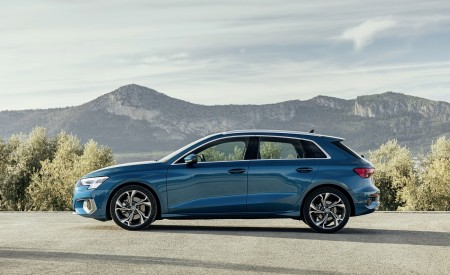 2021 Audi A3 Sportback (Color: Turbo Blue) Side Wallpapers 450x275 (32)