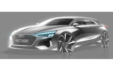 2021 Audi A3 Sportback Design Sketch Wallpapers 450x275 (113)