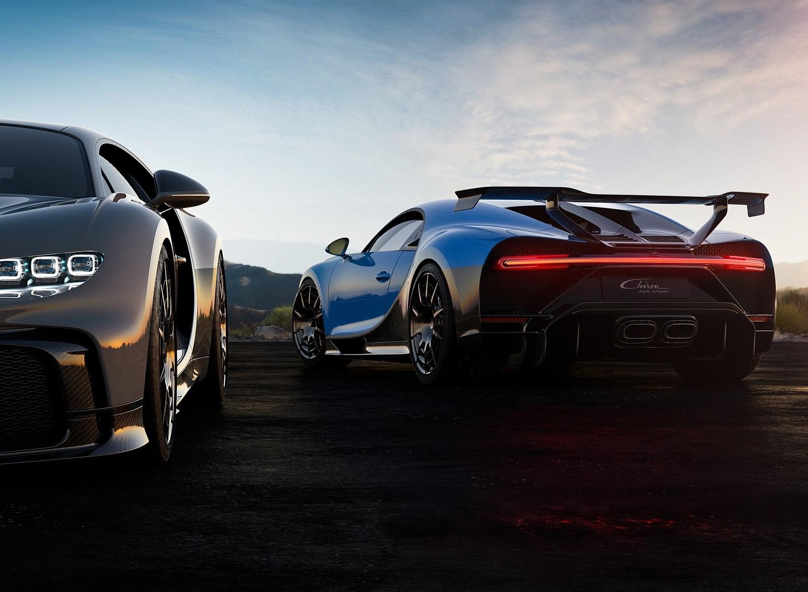 2021 Bugatti Chiron Pur Sport Rear Three-Quarter Wallpapers (9)