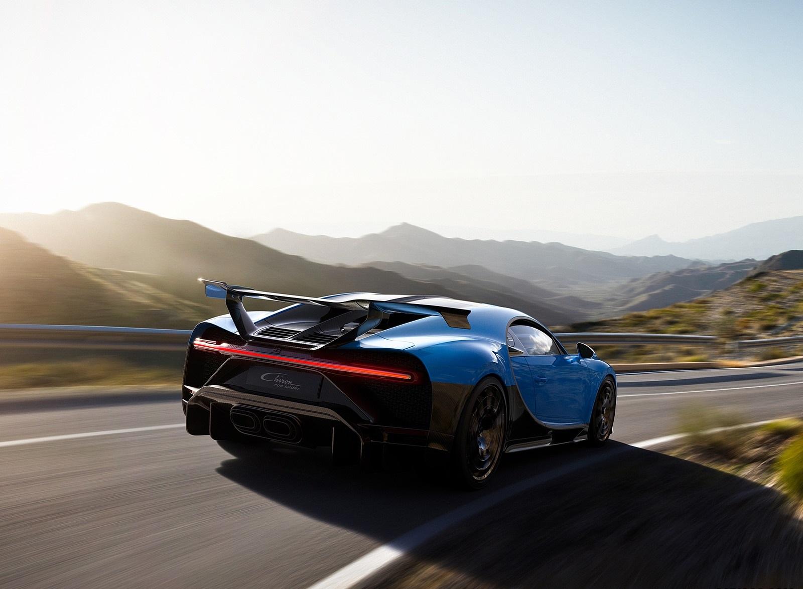 2021 Bugatti Chiron Pur Sport Rear Three-Quarter Wallpapers (3)