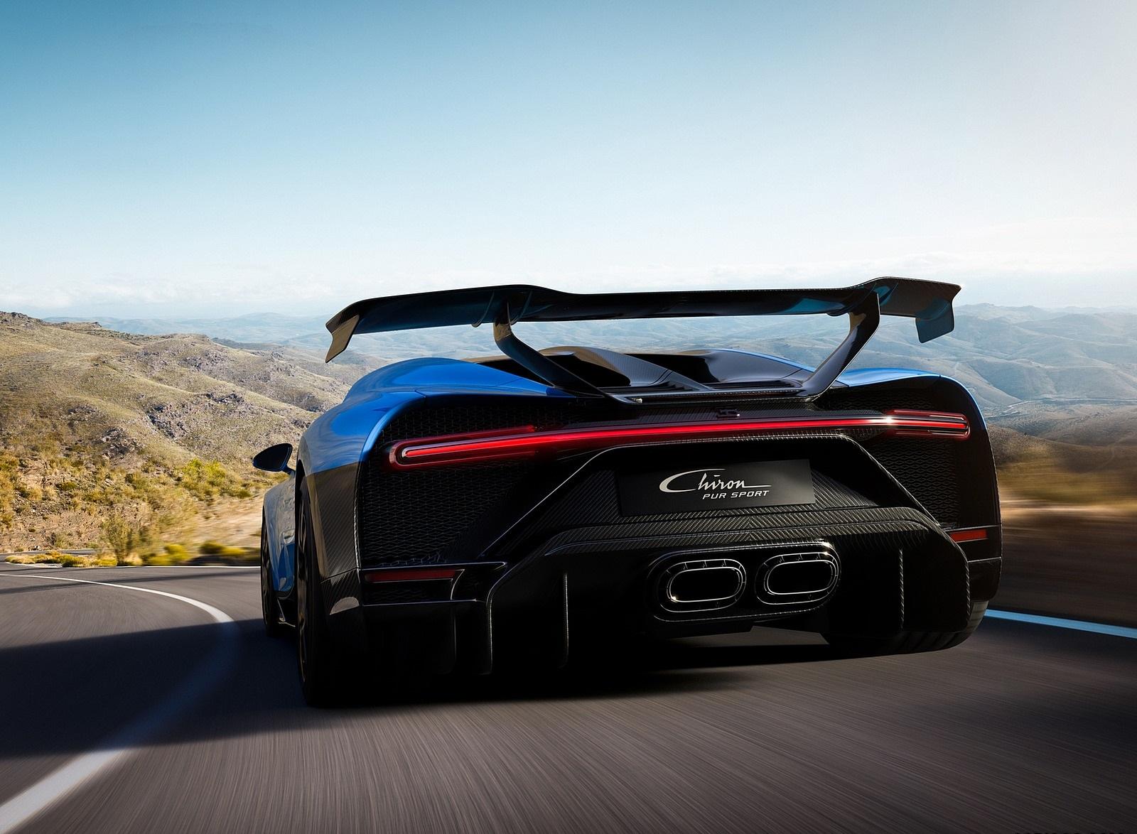 2021 Bugatti Chiron Pur Sport Rear Wallpapers (4)