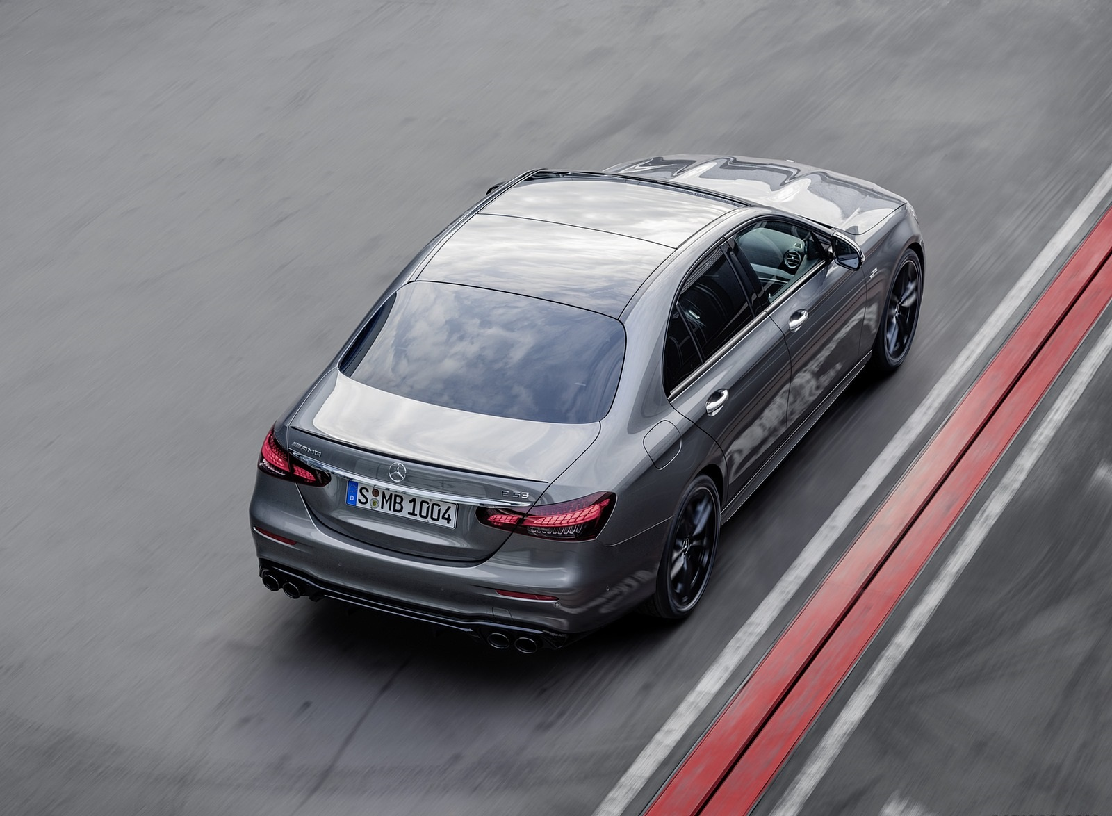 2021 Mercedes-AMG E 53 4MATIC+ Night Package (Color: Selenite Grey Metallic) Rear Three-Quarter Wallpapers (7)