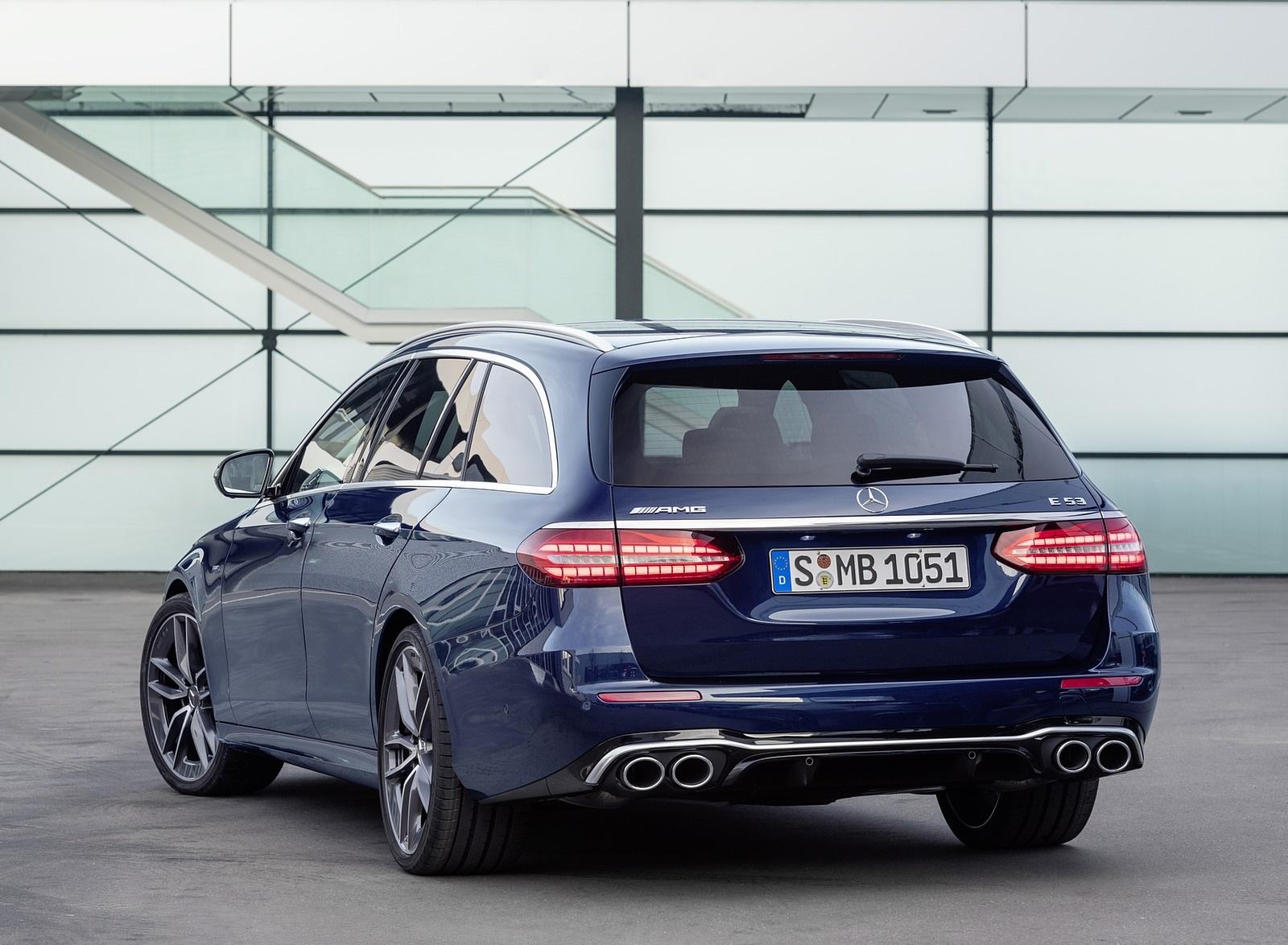 2021 Mercedes-AMG E 53 Estate 4MATIC+ T-Model (Color: Cavansite Blue Metallic) Rear Wallpapers (10)