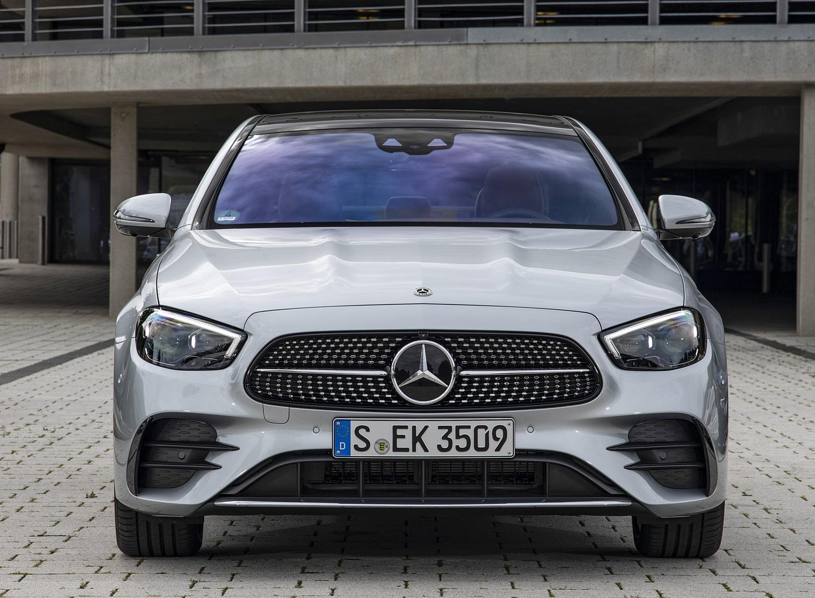 2021 Mercedes-Benz E 350 (Color: Hightech silver) Front Wallpapers (10)