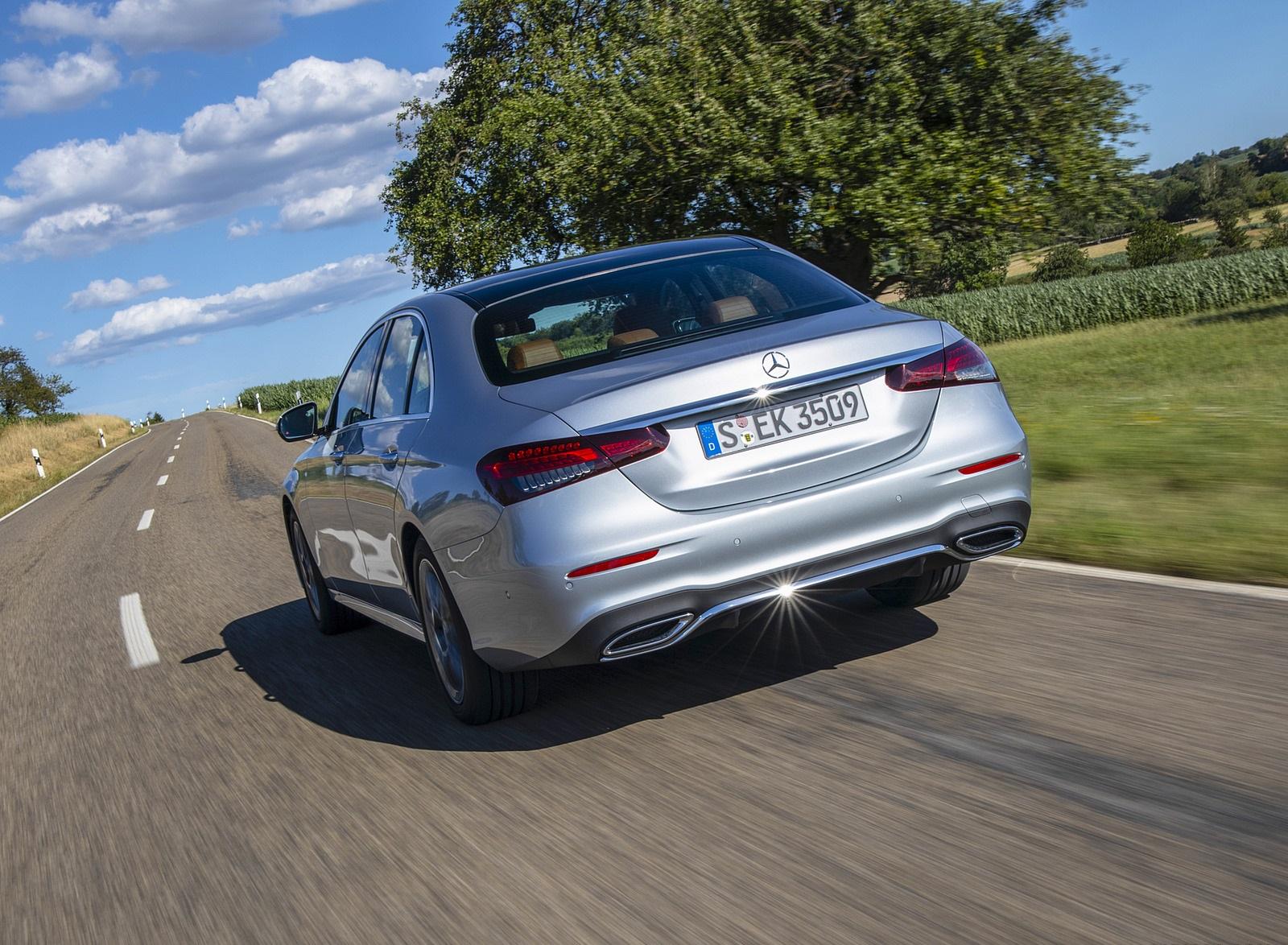 2021 Mercedes-Benz E 350 (Color: Hightech silver) Rear Wallpapers (6)