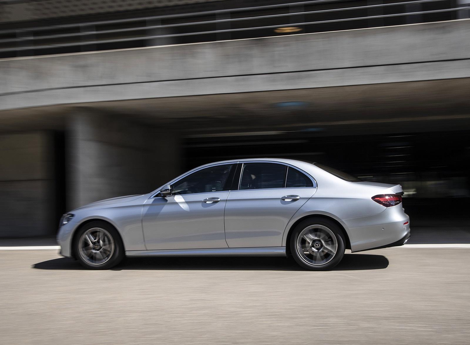 2021 Mercedes-Benz E 350 (Color: Hightech silver) Side Wallpapers (8)