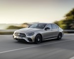 2021 Mercedes-Benz E-Class AMG line (Color: Mojave Silver Metallic) Front Three-Quarter Wallpapers 150x120 (27)