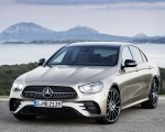 2021 Mercedes-Benz E-Class AMG line (Color: Mojave Silver Metallic) Front Three-Quarter Wallpapers 150x120 (37)