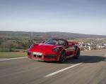 2021 Porsche 911 Turbo S Cabrio (Color: Guards Red) Front Three-Quarter Wallpapers 150x120 (29)