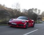 2021 Porsche 911 Turbo S Cabrio (Color: Guards Red) Front Three-Quarter Wallpapers 150x120 (21)