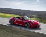 2021 Porsche 911 Turbo S Cabrio (Color: Guards Red) Front Three-Quarter Wallpapers 150x120 (32)