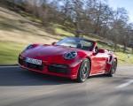 2021 Porsche 911 Turbo S Cabrio (Color: Guards Red) Front Three-Quarter Wallpapers 150x120 (23)