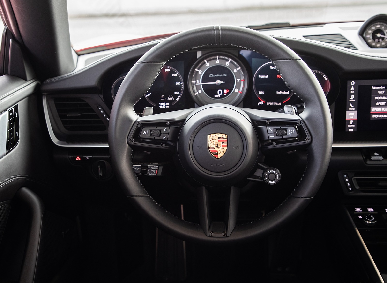 2021 Porsche 911 Turbo S Cabrio Color Guards Red Interior Wallpapers 84 Newcarcars