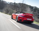 2021 Porsche 911 Turbo S Cabrio (Color: Guards Red) Rear Three-Quarter Wallpapers 150x120 (25)