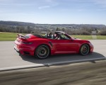 2021 Porsche 911 Turbo S Cabrio (Color: Guards Red) Rear Three-Quarter Wallpapers 150x120 (35)
