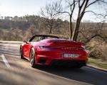 2021 Porsche 911 Turbo S Cabrio (Color: Guards Red) Rear Three-Quarter Wallpapers 150x120 (26)