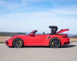 2021 Porsche 911 Turbo S Cabrio (Color: Guards Red) Side Wallpapers 150x120 (49)
