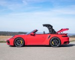 2021 Porsche 911 Turbo S Cabrio (Color: Guards Red) Side Wallpapers 150x120 (41)