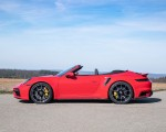 2021 Porsche 911 Turbo S Cabrio (Color: Guards Red) Side Wallpapers 150x120 (38)