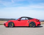 2021 Porsche 911 Turbo S Cabrio (Color: Guards Red) Side Wallpapers 150x120 (43)