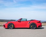 2021 Porsche 911 Turbo S Cabrio (Color: Guards Red) Side Wallpapers 150x120 (39)