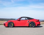 2021 Porsche 911 Turbo S Cabrio (Color: Guards Red) Side Wallpapers 150x120 (44)
