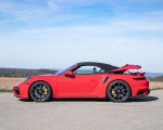 2021 Porsche 911 Turbo S Cabrio (Color: Guards Red) Side Wallpapers 150x120 (45)