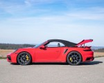2021 Porsche 911 Turbo S Cabrio (Color: Guards Red) Side Wallpapers 150x120 (46)