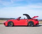 2021 Porsche 911 Turbo S Cabrio (Color: Guards Red) Side Wallpapers 150x120 (47)