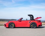 2021 Porsche 911 Turbo S Cabrio (Color: Guards Red) Side Wallpapers 150x120 (48)