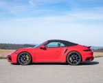 2021 Porsche 911 Turbo S Cabrio (Color: Guards Red) Side Wallpapers 150x120 (50)