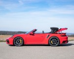 2021 Porsche 911 Turbo S Cabrio (Color: Guards Red) Side Wallpapers 150x120 (40)