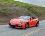 2021 Porsche 911 Turbo S Cabrio (Color: Lava Orange) Front Three-Quarter Wallpapers 150x120 (4)
