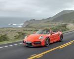 2021 Porsche 911 Turbo S Cabrio (Color: Lava Orange) Front Three-Quarter Wallpapers 150x120 (2)