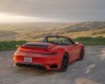2021 Porsche 911 Turbo S Cabrio (Color: Lava Orange) Rear Three-Quarter Wallpapers 150x120 (12)