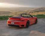 2021 Porsche 911 Turbo S Cabrio (Color: Lava Orange) Rear Three-Quarter Wallpapers 150x120 (13)