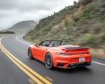 2021 Porsche 911 Turbo S Cabrio (Color: Lava Orange) Rear Three-Quarter Wallpapers 150x120 (6)